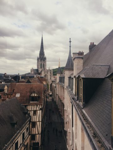 Vue sur la rue Saint Romain à Rouen