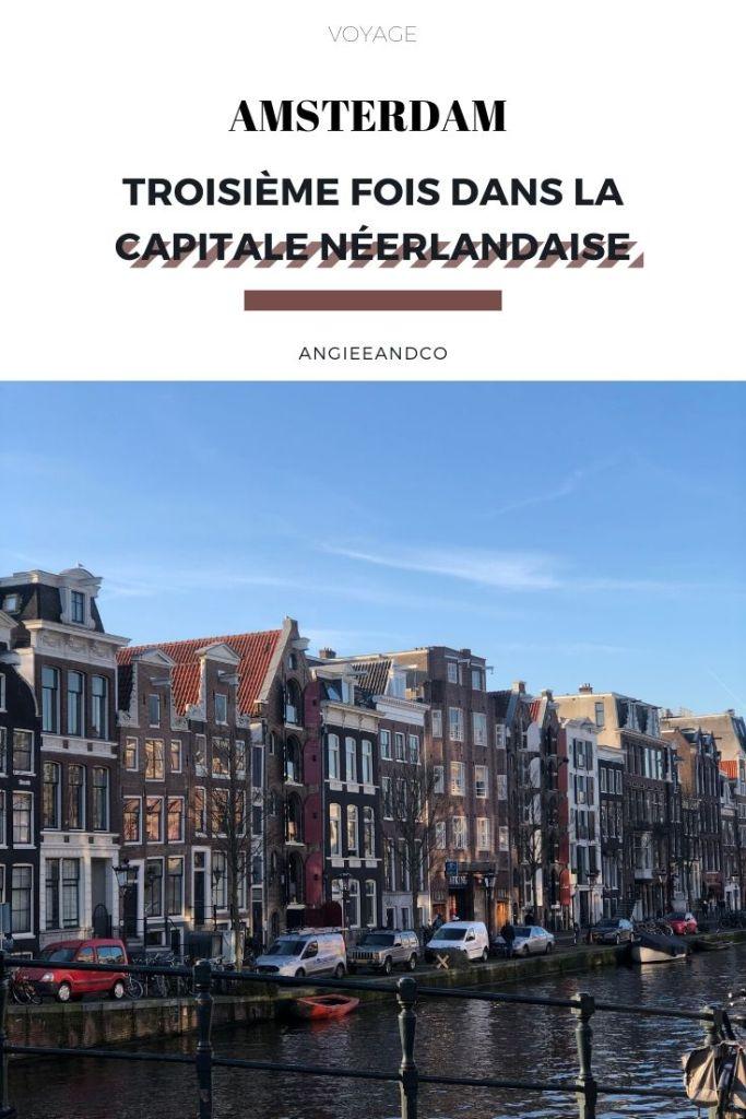 Epingle Pinterest pour notre article sur notre troisième fois à Amsterdam