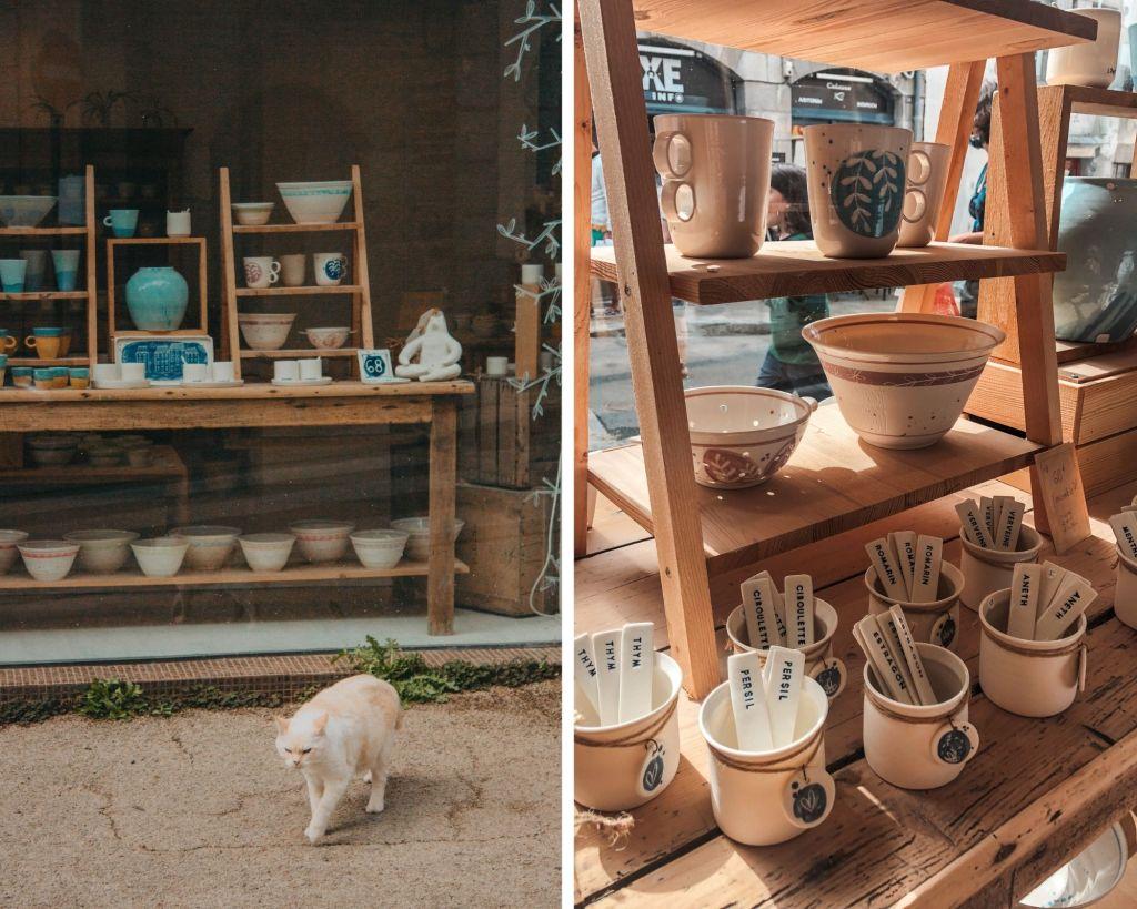 La jolie boutique de Porcelaine & Cie à Lannion dans les Côtes d'Armor