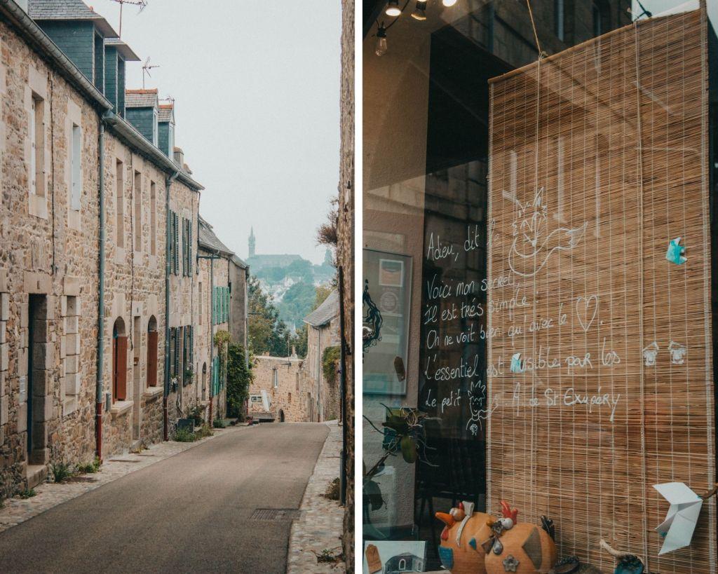 Les vitrines et les maisons de Tréguier