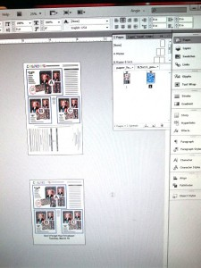 Screen Snap of the an Alternate Layout example in Indesign CS6