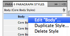 "Screen shot of the Edit ""Body"" function"