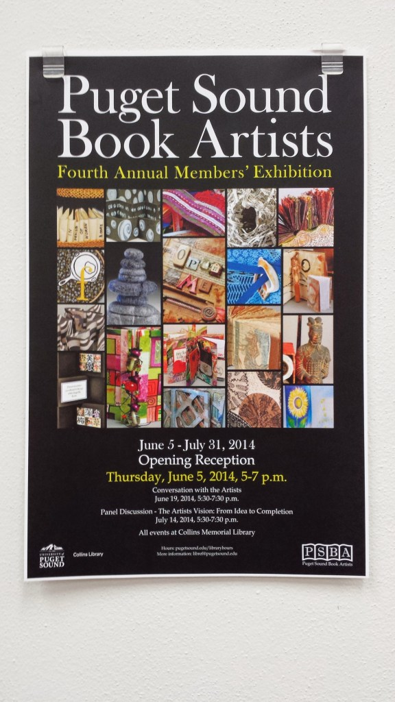 Puget Sound Book Artists 4th Exhibit Poster