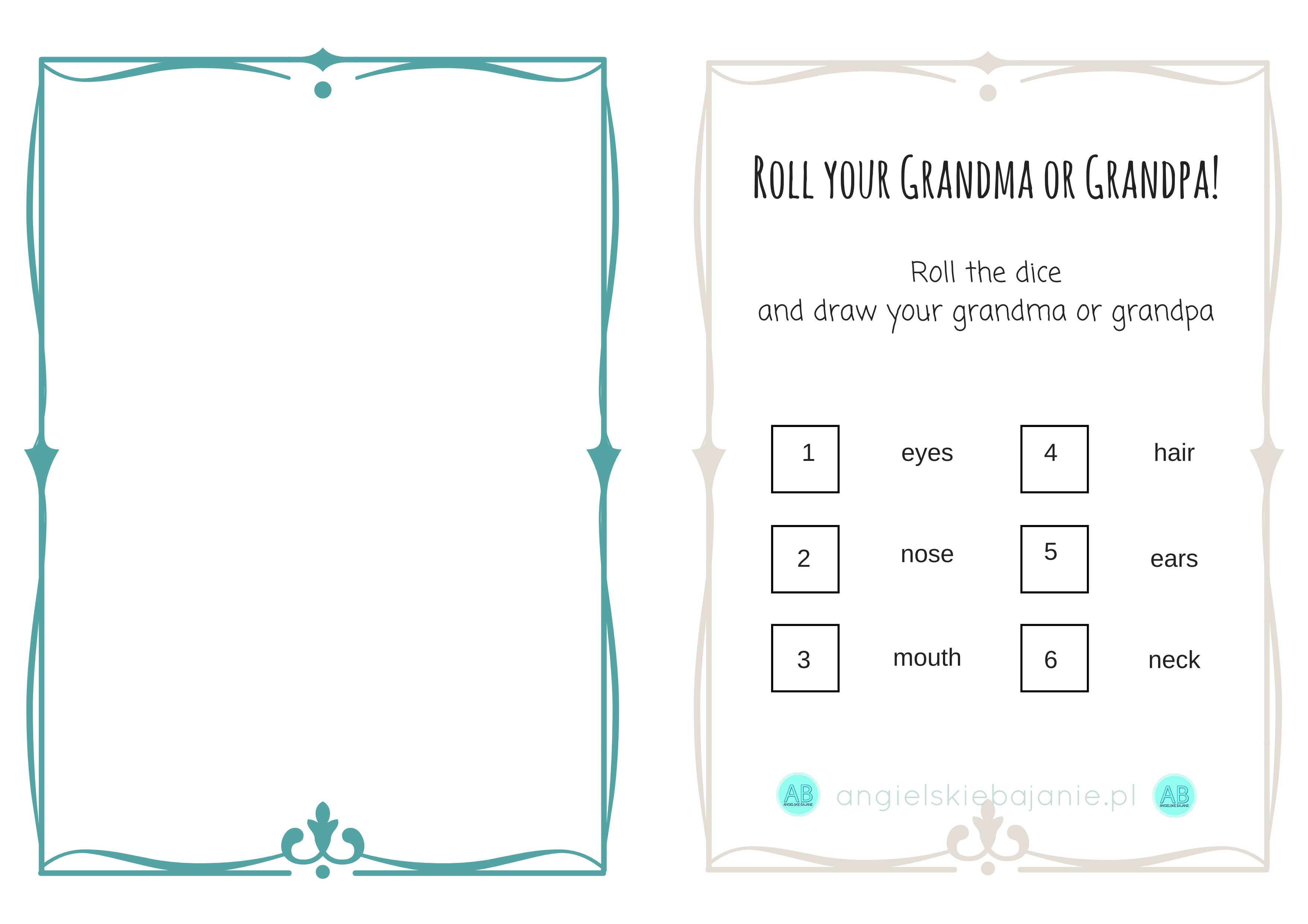 Grandparents' Day #1: a rhyme and flashcards