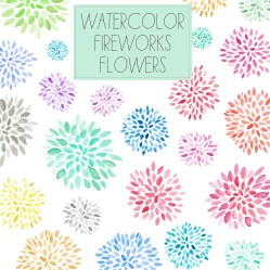 watercolor clip flowers fireworks flower pretty angiemakes dahlias producer