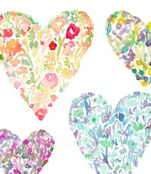 watercolor clipart heart clip hearts floral flowers flower cute cliparts angiemakes library pretty spring