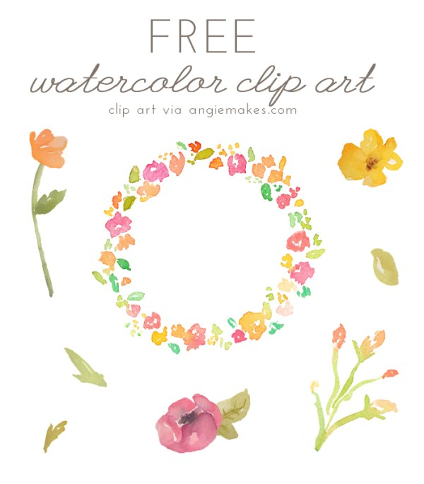 angie makes - free watercolor flower