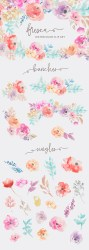 watercolor clip flowers collection angiemakes fresca