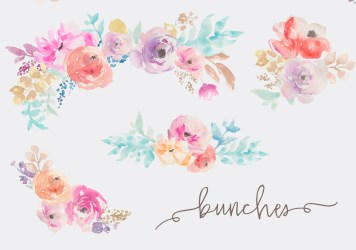 watercolor flower clipart flowers clip fresca collection floral angie makes graphic watercolors