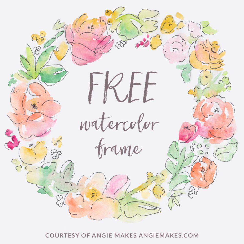 medium resolution of free watercolor flower frame angiemakes com