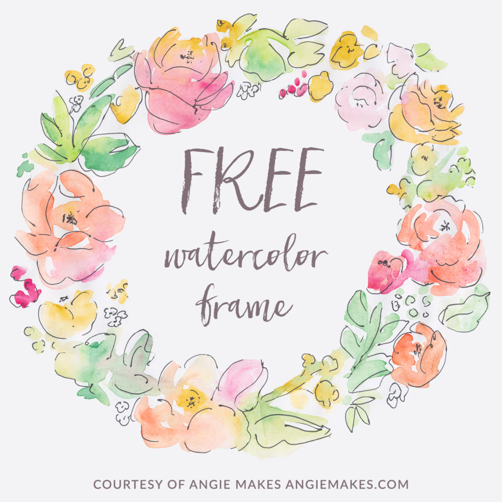 hight resolution of free watercolor flower frame angiemakes com