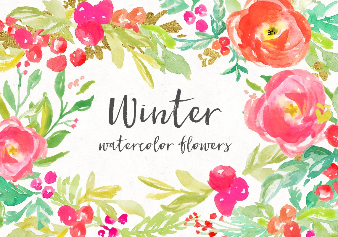 Fall Lilly Pulitzer Wallpaper Watercolor Winter Flowers Angiemakes Com