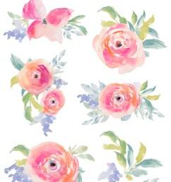 free floral clipart [ 800 x 1306 Pixel ]