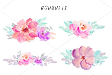 watercolor flower clipart background flowers clip transparent floral angiemakes painted pretty
