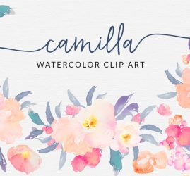 watercolor clip flower designs camilla flowers angie angiemakes