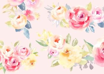 watercolor flower clip kay emma angiemakes