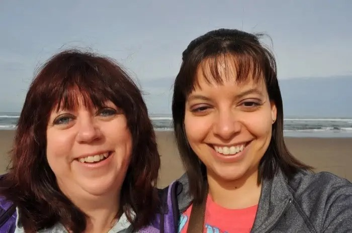 Kris and I at the Beach