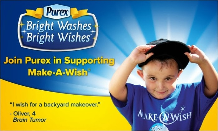 Purex Supports Make-A-Wish with a giveaway for Purex detergent that ends 2/3/14