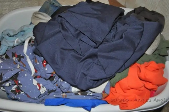 Day 30 - Laundry Ready to be Put Away - Angie's Angle