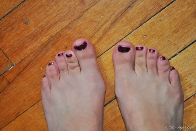 Day 50 - Painted my Toes - Angie's Angle