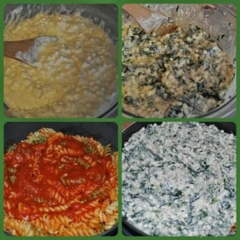 Skillet Pasta Florentine Steps
