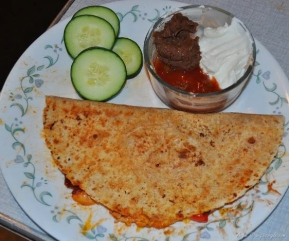 meals by the week - chicken quesadilla