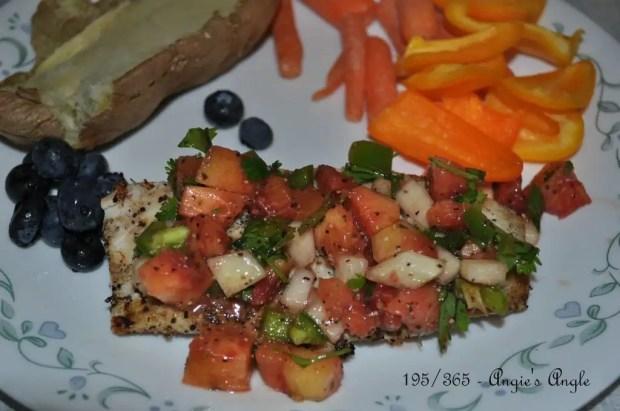 Catch the Moment 365 - Day 195 - Mahi Mahi with Nectarine Salsa - Finished Plate