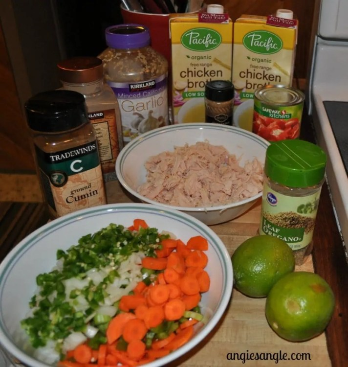 Chicken Soup with Jalapeno and Lime - Ingredients