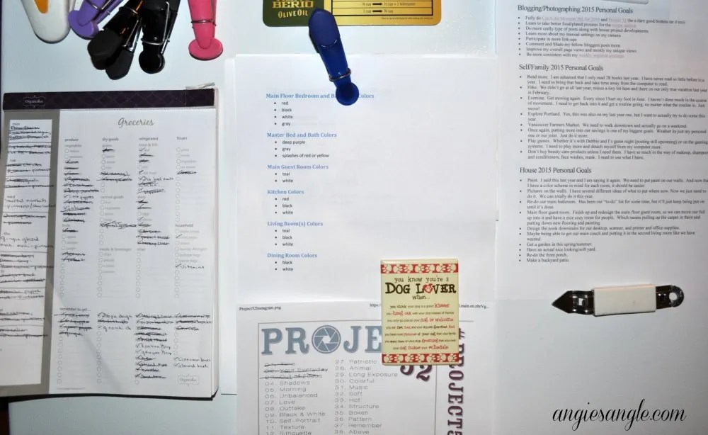 Catch the Moment 365 - Day 29 - My Lists