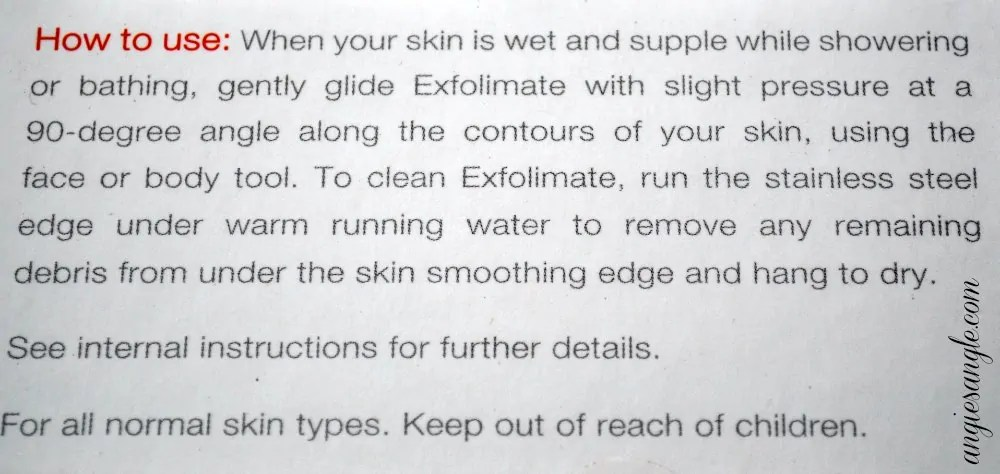 Exfolimate - how to use