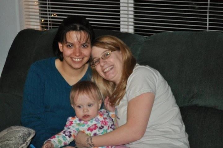 Angie, Ava and Teresa at Christmas 2010 - How I Met My Best Friend