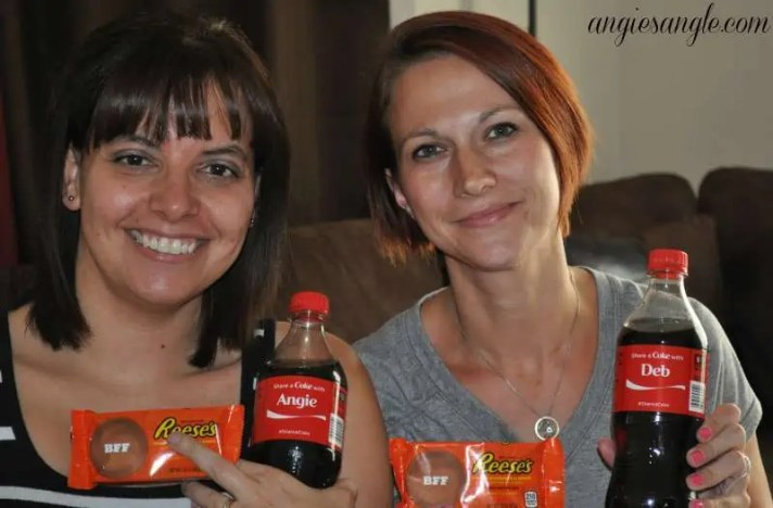 Pampering and Sharing With The Best Friend - Best Friends Coke and Reeses