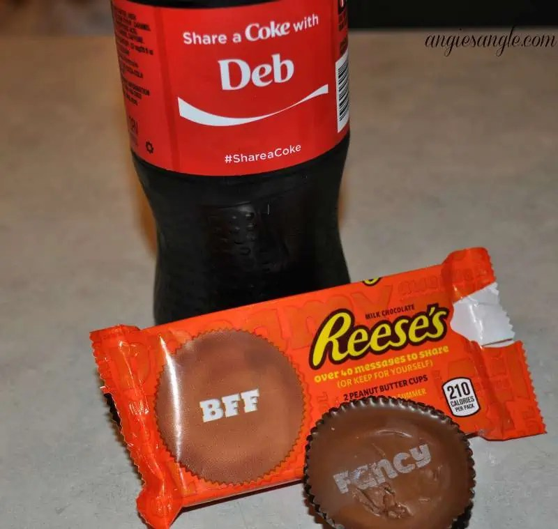 Pampering and Sharing With The Best Friend - Coke and Reeses open
