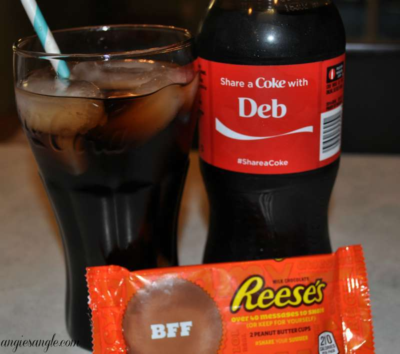 Pampering and Sharing With The Best Friend - Sipping a Coke and Reeses