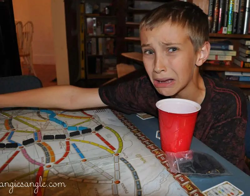 Catch the Moment 365 - Day 270 - Dylan Playing Ticket to Ride