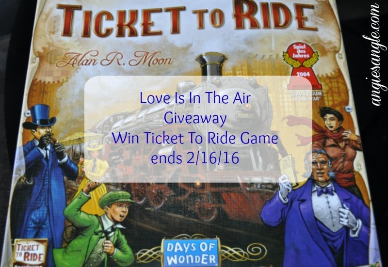 Love Is In The Air Giveaway - Ticket To Ride