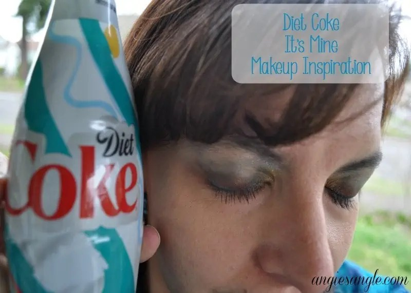 How To Do Colorful Eyes That Pop Inspired by Diet Coke Bottles #MyUnique4