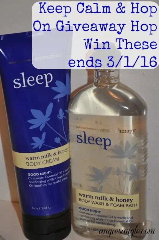 Keep Calm and Hop On Giveaway Hop - Win Bath & Body Works