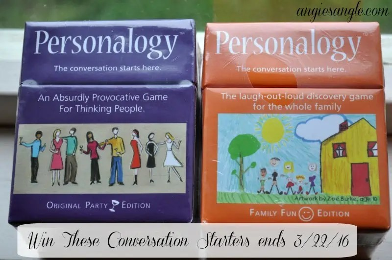 Conversation Starters - Giveaway