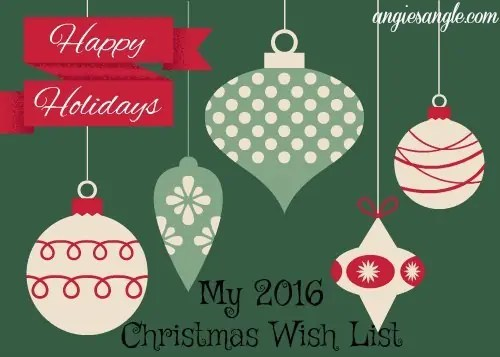 2016 Christmas Wish List