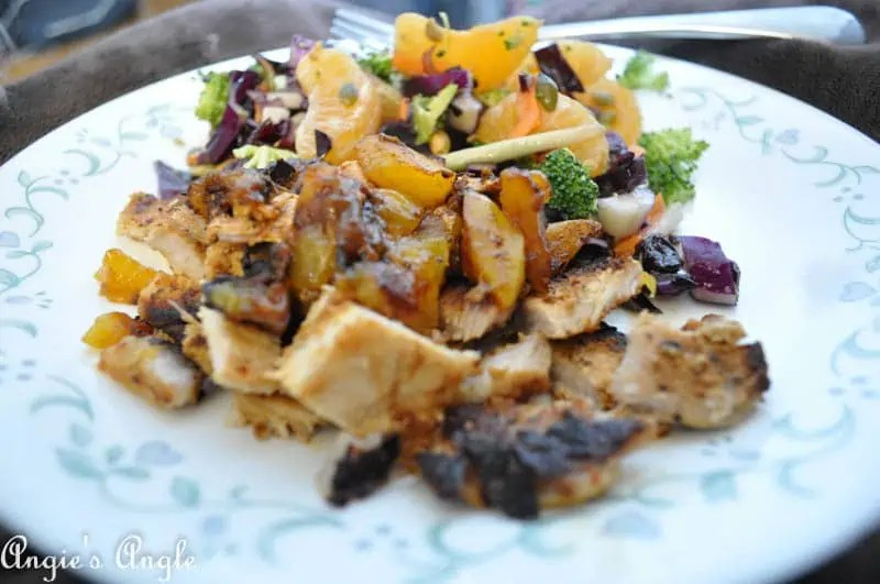 2017 Catch the Moment 365 Week 2 - Day 8 - Pork Chop and Salad