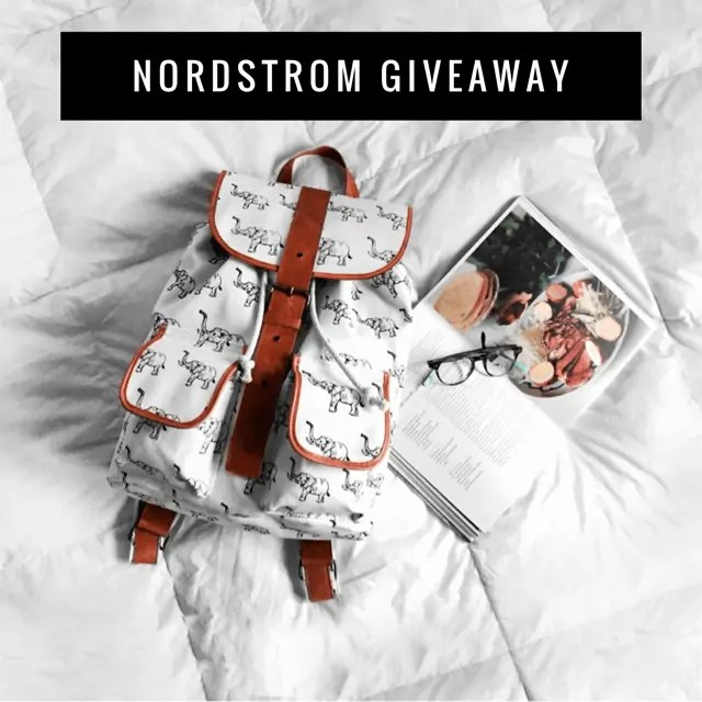 February Nordstrom Insta Giveaway ends 3/14/17