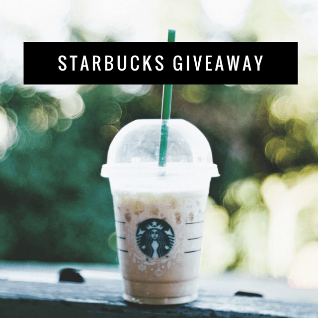 March Starbucks Giveaway