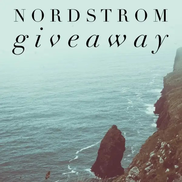 Nordstrom Giveaway for March ends 4/7/17