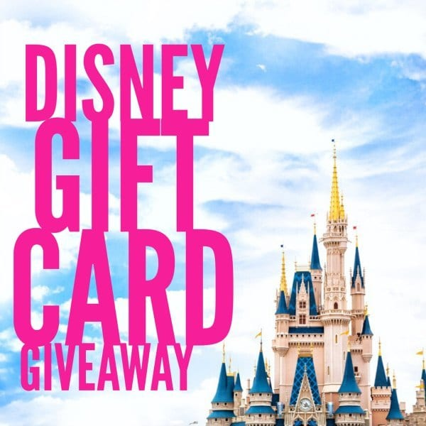 April Disney Gift Card Giveaway ends 5/8/17