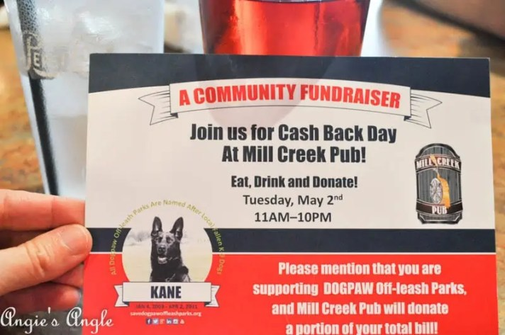 2017 Catch the Moment 365 Week 18 - Day 122 - Save Dog Paw Event Mill Creek Pub