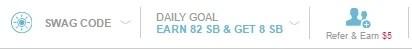 Love of Swagbucks Daily Goal