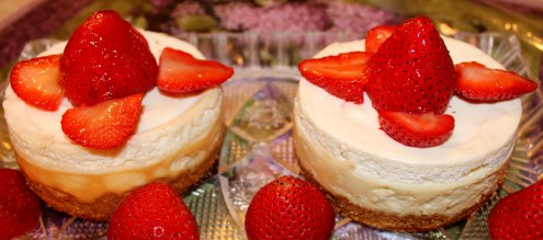 Mini New York Cheesecakes for Two
