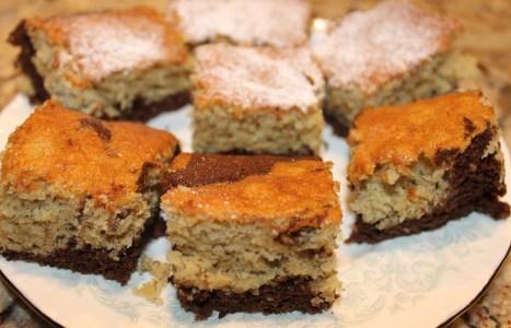Low Calorie Black Bottom Snack Cake