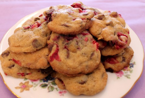 Chocolate Chip Cookies with Real Cranberries